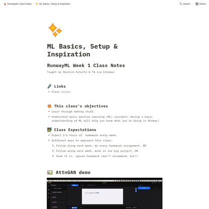 ML Basics, Setup & Inspiration