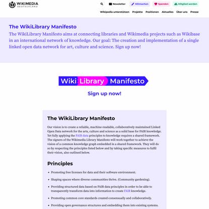 The WikiLibrary Manifesto - Wikimedia