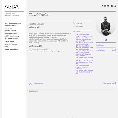 Stuart Geddes - Australian Book Designers Association