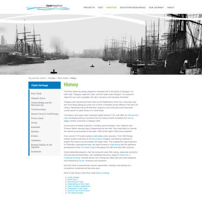 History of the River Clyde: learn about Glasgow shipbuilding, merchants & trading on the Clyde