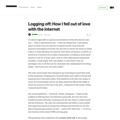 Logging off: How I fell out of love with the internet