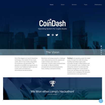 CoinDash - Operating System For Crypto Assets
