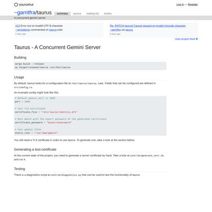 taurus: A concurrent gemini server