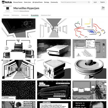 Screenshots of Merveilles Hyperjam games - itch.io