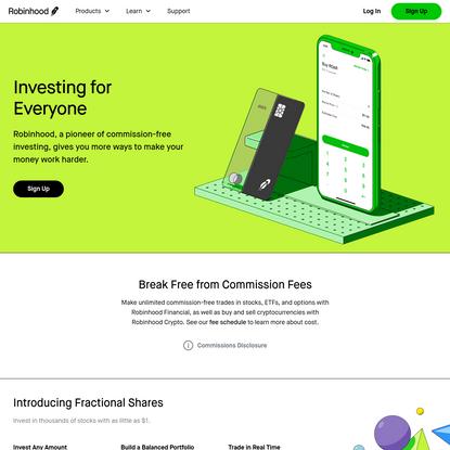 Commission-free Stock Trading & Investing App | Robinhood