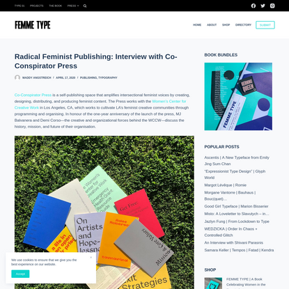 Radical Feminist Publishing: Interview with Co-Conspirator Press - FEMME TYPE