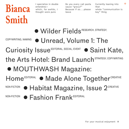 Bianca Smith Writes