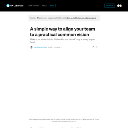 A simple way to align your team to a practical common vision