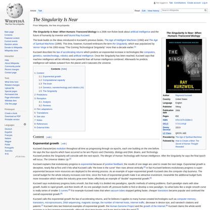 The Singularity Is Near - Wikipedia
