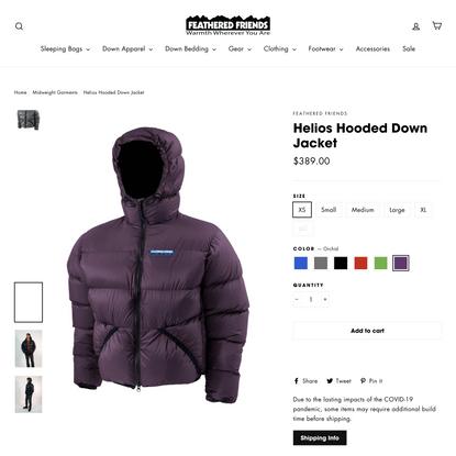 Helios Hooded Down Jacket