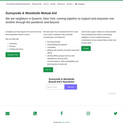 Sunnyside & Woodside Mutual Aid