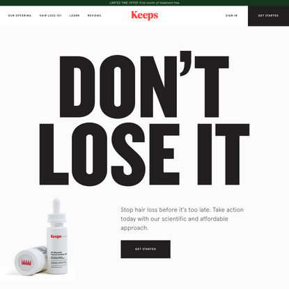 Keeps | Hair Loss Treatment for Men