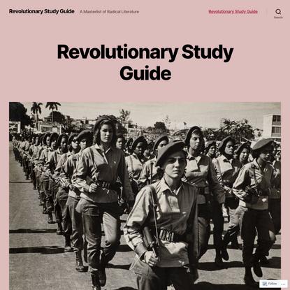 Revolutionary Study Guide