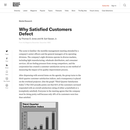Why Satisfied Customers Defect