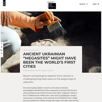 """Ancient Ukrainian """"Megasites"""" Might Have Been the World's First Cities - De Gruyter Conversations"""