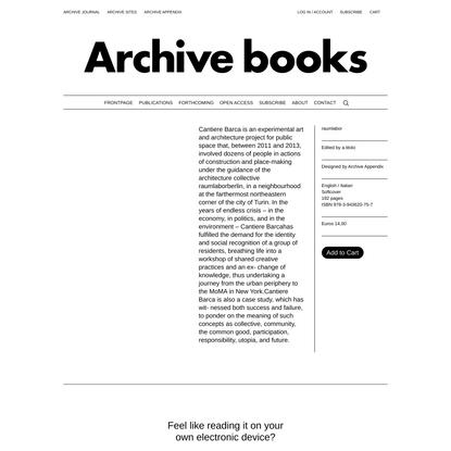 raumlabor - Archive Books