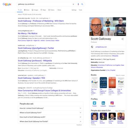 galloway nyu professor - Google Search