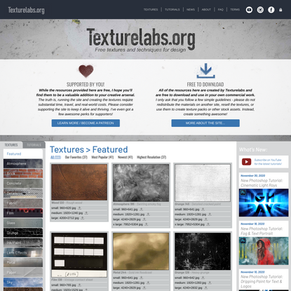 Texturelabs | Free Textures And Tutorials For Photoshop And More