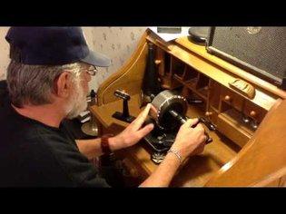 RECORDING ON TIN FOIL / edison 1878 tinfoil phonograph