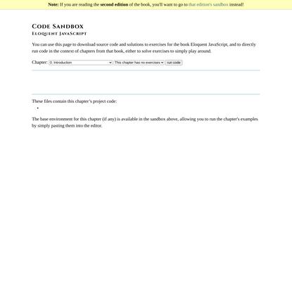 Eloquent JavaScript :: Code Sandbox