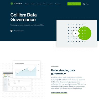 Organize data across your enterprise   Collibra