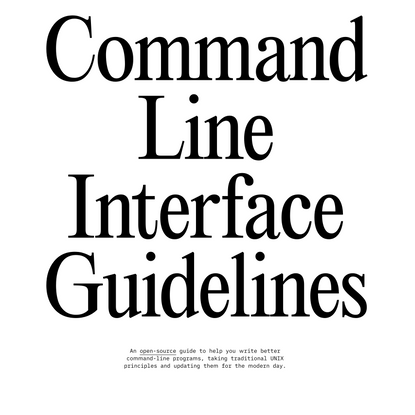 Command Line Interface Guidelines