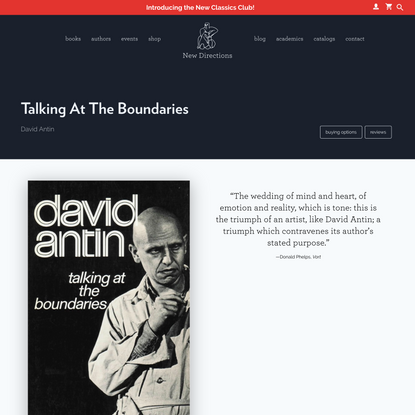 New Directions Publishing | Talking At The Boundaries