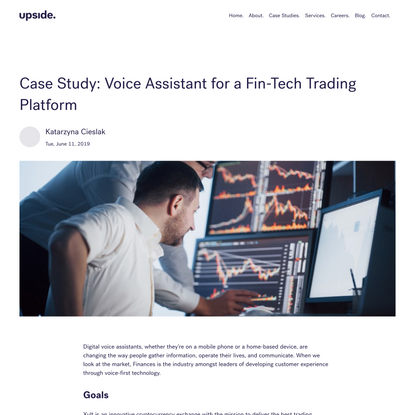 Case Study: Voice Assistant for a Fin-Tech Trading Platform | Upside