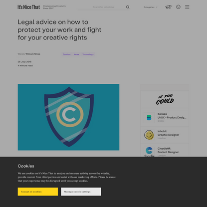 Legal advice on how to protect your work and fight for your creative rights