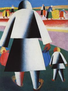 """Kazimir Malevich """"Marpha and Vanka"""" (1929)"""