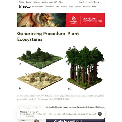Generating Procedural Plant Ecosystems