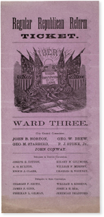 Regular Republican Reform Ticket, 1870s