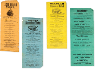 Miscellaneous Tickets, 1869-1878