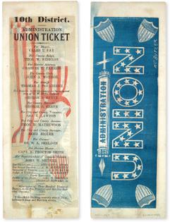 Administration Union Ticket, CA 1851
