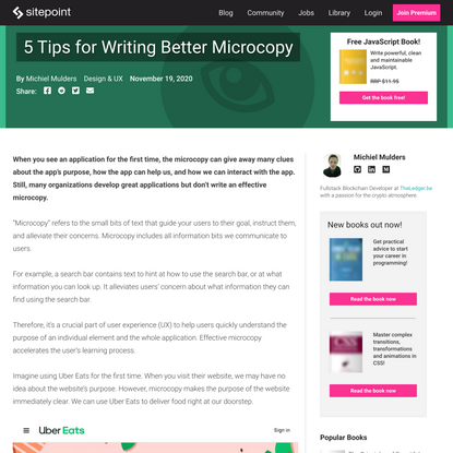 5 Tips for Writing Better Microcopy - SitePoint