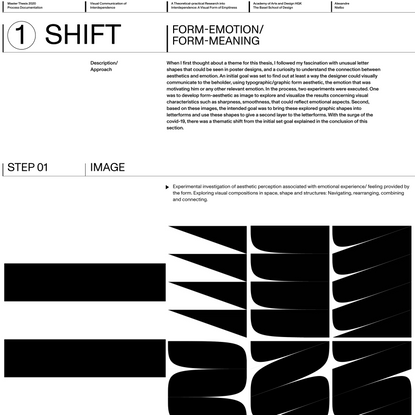 Process Documentation/ MA Thesis 2020 — Emotion-form/ Meaning-form