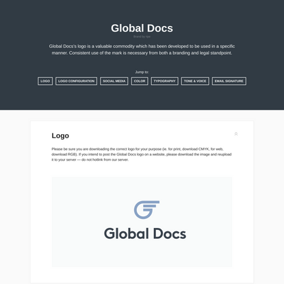 Global Docs | Style Guide