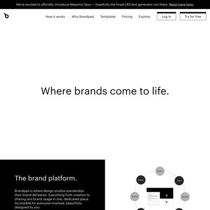 The brand guidelines platform — Brandpad™