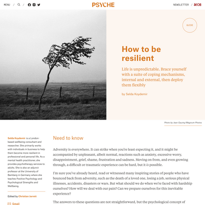 How to be resilient   Psyche Guides