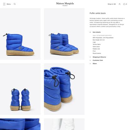 Maison Margiela Puffer Ankle Boots Men | Maison Margiela Store