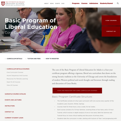 Core Curriculum Courses
