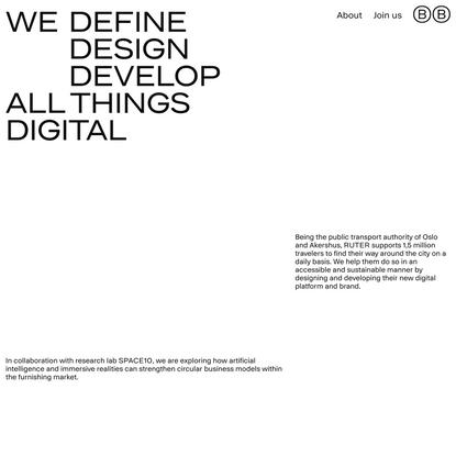 Bakken & Bæck | A technology-driven design studio