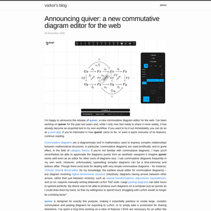 Announcing quiver: a new commutative diagram editor for the web