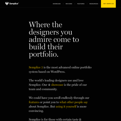 Semplice - Create your custom online design portfolio
