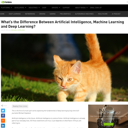 The Difference Between AI, Machine Learning, and Deep Learning? | NVIDIA Blog