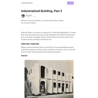Industrialized Building, Part 2