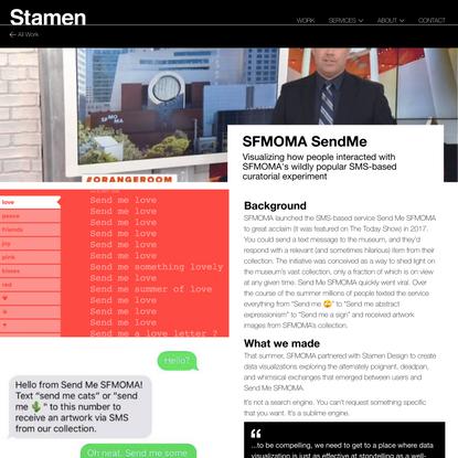SFMOMA SendMe - Stamen