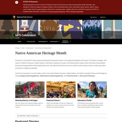 Native American Heritage Month - NPS Celebrates! (U.S. National Park Service)