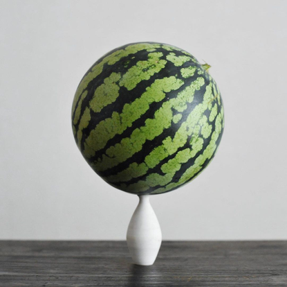"""watarai toru - Tumbler&FLOWERS's Instagram profile post: """"The watermelon I brought home from my parents house. Very spherica..."""