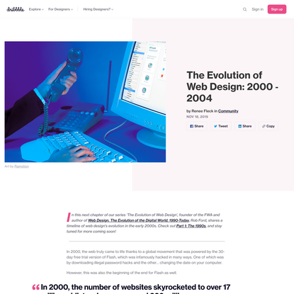 The Evolution of Web Design: 2000 - 2004